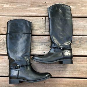 FRYE Melissa Seam Tall Black Riding Boots